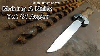 Video Forging A Knife From Auger Drill Bit MP3, 3GP, MP4, WEBM, AVI, FLV Februari 2019