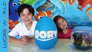 Nonton FINDING DORY GIANT PLAY DOH Surprise Egg & Marine Life Aquarium Play Set! Real FISH vs Swimming Toys Film Subtitle Indonesia Streaming Movie Download