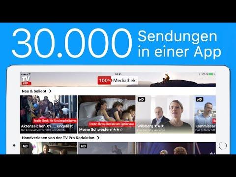 Filme und Sendungen legal streamen + downloaden mit TV Pro 100% Mediathek