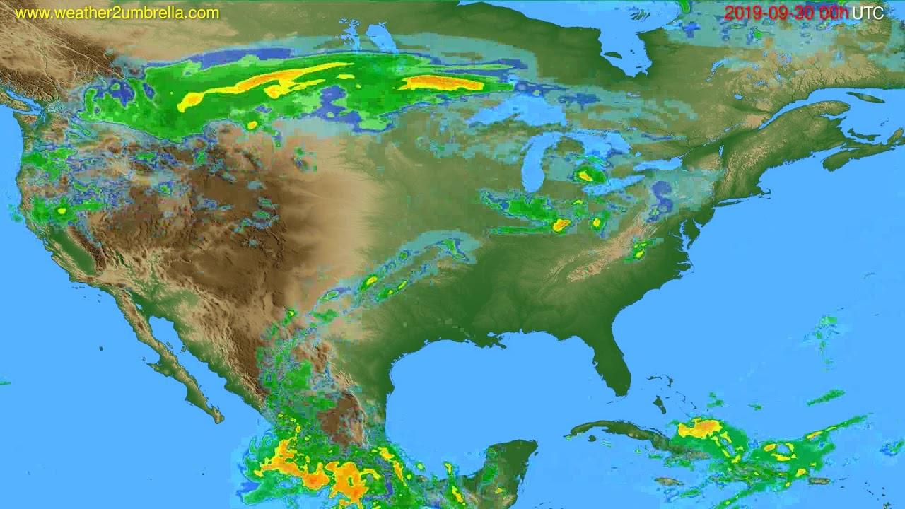 Radar forecast USA & Canada // modelrun: 12h UTC 2019-09-29