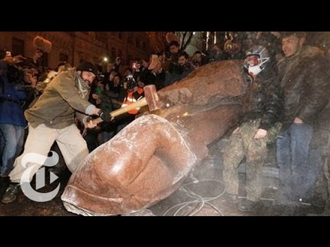 watch - Subscribe on YouTube: http://bit.ly/U8Ys7n Protests in Ukraine's capital, which have grown steadily for weeks, reached new heights on Sunday when demonstrato...