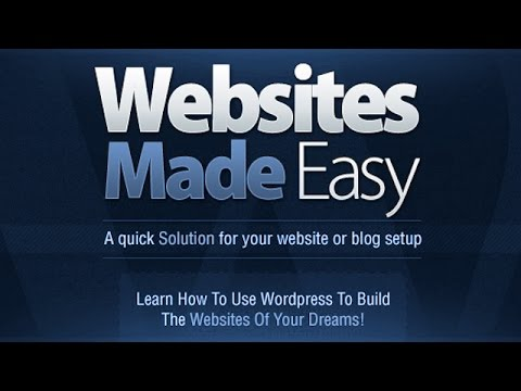 create - http://websitesmadeeasy.tv/ This WordPress Tutorial for beginners will show you how to make a website A-Z step-by-step! You will learn to properly build a we...