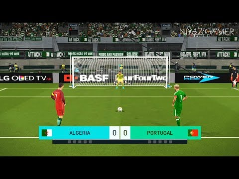 ALGERIA vs PORTUGAL | Penalty Shootout | PES 2018 Gameplay PC