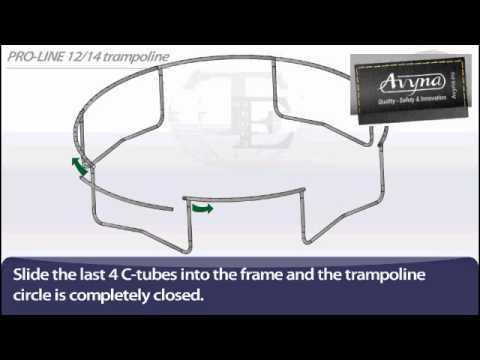 AVYNA PRO-LINE 14 Combi-Pack Ø 4m30 | Montage trampoline