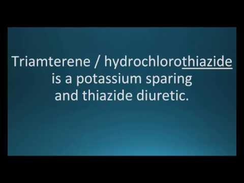 How to pronounce triamterene / hydrochlorothiazide (Dyazide) (Memorizing Pharmacology Flashcard)