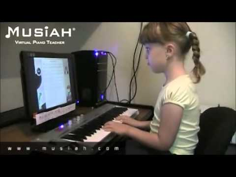 Piano Video: Online Piano Lessons Song #09 Mary Had A Leg Of lamb played by Savannah