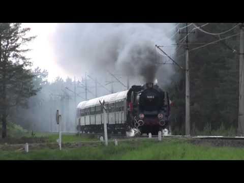 Pm36-2 z Piratem do Poznania Głównego pędzi przez lasy w okolicach Podborska
