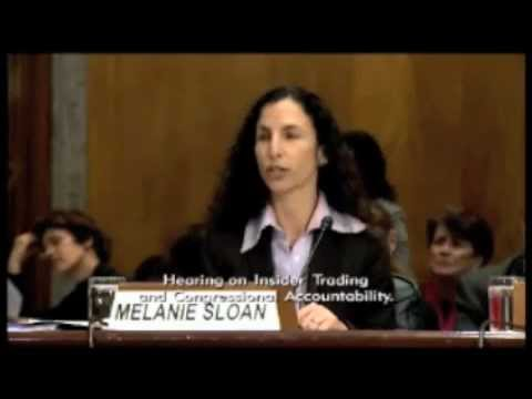Insider Trading and Congressional Accountability - Melanie Sloan&#8217;s testimony