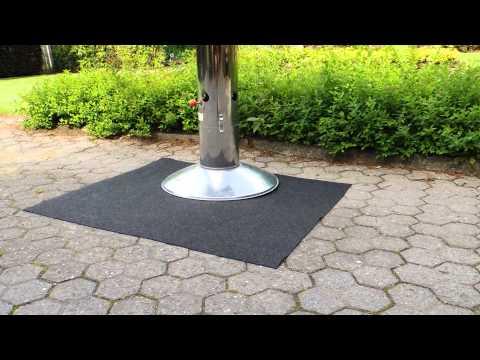 Grillmatte - Bodenschutzmatte für Grills -