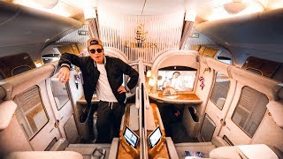 Download Video FLYING EMIRATES FIRST CLASS IS AN EXPERIENCE! | VLOG² 145 MP3 3GP MP4