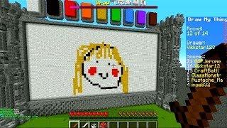 Minecraft DRAW MY THING #5 with Vikkstar, Jerome&CraftBattleDuty