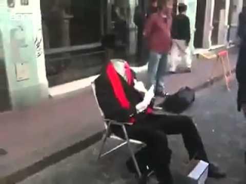 隱形的街頭藝人,怎麼辦到的?