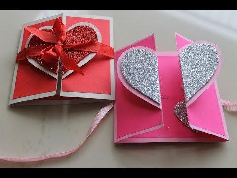 DIY Heart Greeting Card / Handmade Card Tutorial (видео)
