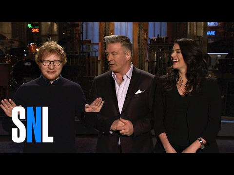Ed Sheeran Shows SNL Host Alec Baldwin & Cecily Strong His Trump Impression