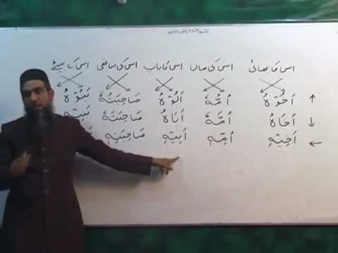 urdu arabic grammar class - Location: Quran Academy, Saeed Colony 2, Faisalabad. For Notes: http://dl.dropbox.com/u/70521853/Arbi-Seekhain-Aur-Quran-Samjain.pdf OR http://dl.dropbox.com...