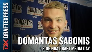Domantas Sabonis NBA Draft Media Day Interview
