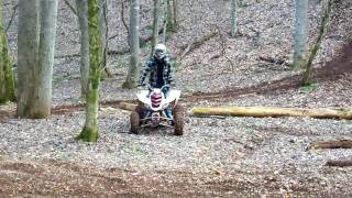 8. 2005 raptor 660r  and 2002 400ex at hill climb       (RFL)