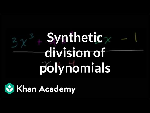 Intro to polynomial synthetic division (video) | Khan Academy