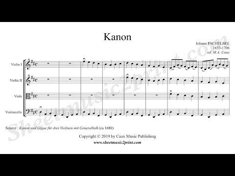 Pachelbel : Canon - String Quartet