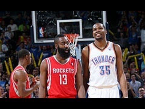 duel - Kevin Durant and the Thunder got the better of James Harden and the Rockets as they finished with 42 and 28 points respectively. Visit nba.com/video for more...