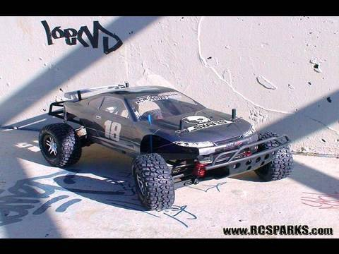 RC ADVENTURES - SKATE PARK PAIN 1 - EXTREME RC HIGH FLYING BASH - 4X4 TRUCKS & BUGGYS