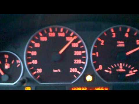 2001 BMW 330xi touring E46 0-180 km/h acceleration
