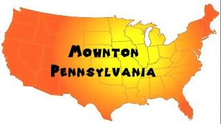 Mohnton (PA) United States  City new picture : How to Say or Pronounce USA Cities — Mohnton, Pennsylvania