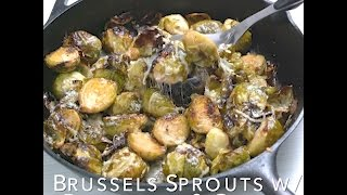 Find the recipe at: http://bestrecipebox.com/recipes/ roasted-brussels-sprouts-garlic-parmesan-cheese/