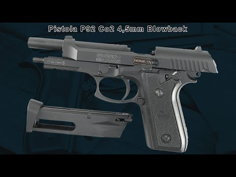 Pistola Airgun Swiss Arms P92 Blowback 4,5mm Co2