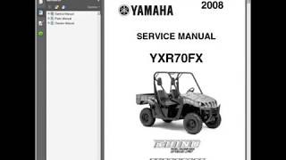 10. Yamaha Rhino 700 UTV - Workshop, Service, Repair Manual