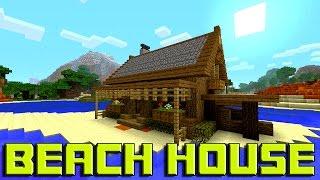 Minecraft: How To Build A BEACH House Tutorial (Simple & Easy Small Minecraft House Tutorial )