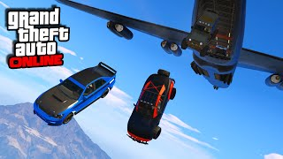 Nonton Furious 7 Plane Drop Scene! || GTA 5 Online || PC Film Subtitle Indonesia Streaming Movie Download