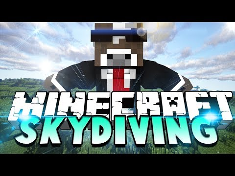 Minecraft SKYDIVING Server Minigame – ( Thimble Mini-game in Minecraft )