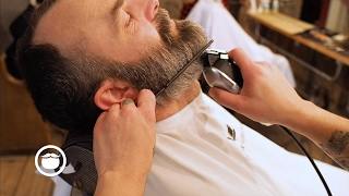 Video Beard Fade With Big Goatee to Tight Sideburns | Cut and Grind MP3, 3GP, MP4, WEBM, AVI, FLV November 2018