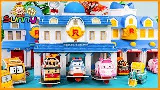 장난감TV 로보카폴리 로이 엠버 헬리 스쿨비 구조센터 체인지 놀이 장난감 애니메이션 동영상 Doll RobocaPoli Animation