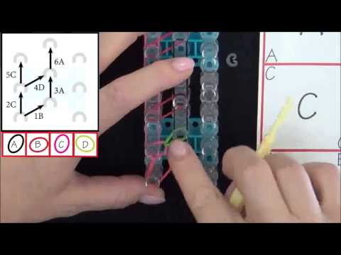 TUTO: Bracelet en losange simple Rainbow Loom france