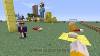 Minecraft Xbox - Speed Building Contest W/Lewis Blogs Gaming - Part 1