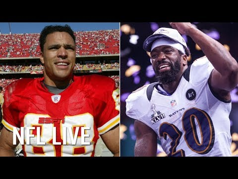 Video: Tony Gonzalez, Ed Reed, Champ Bailey and Ty Law highlight 2019 Pro Football Hall of Fame | NFL Live