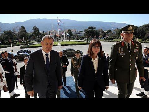 Στο υπουργείο Εθνικής Άμυνας η νέα Πρόεδρος της Δημοκρατίας Κατερίνα Σακελλαροπούλου…