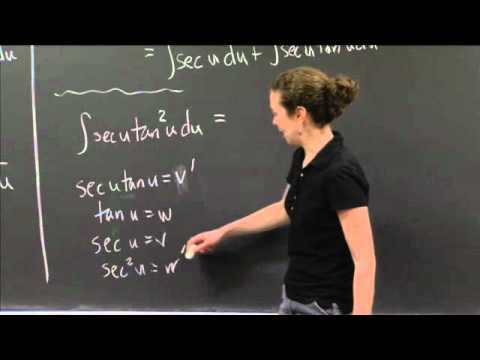 Integration Practice II | MIT 18.01SC Single Variable Calculus, Fall 2010