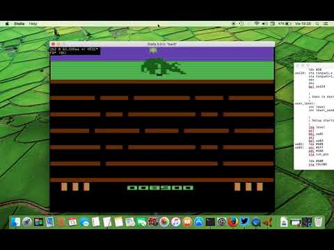 Aardvark in development (Atari VCS/2600, 2017)
