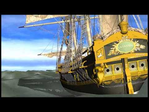 Animated Sail Ship, Sexy Girl Pirates 01.flv