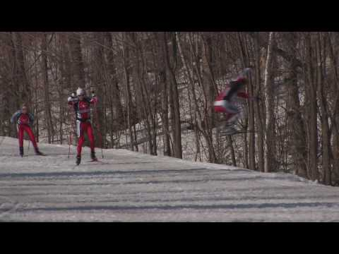 xc ski - Awesome stunts and bloopers on done on cross-country (nordic) skis under self-generated speed and power. Footage from the advanced nordic skiing DVD film pro...