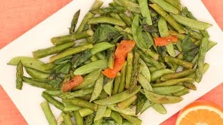 Asparagus and Snap Peas with Orange Chile Oil - Everyday Food with Sarah Carey by Everyday Food