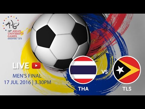 Thailand vs Timor-Leste at the 18th ASEAN University Games Singapore 2016