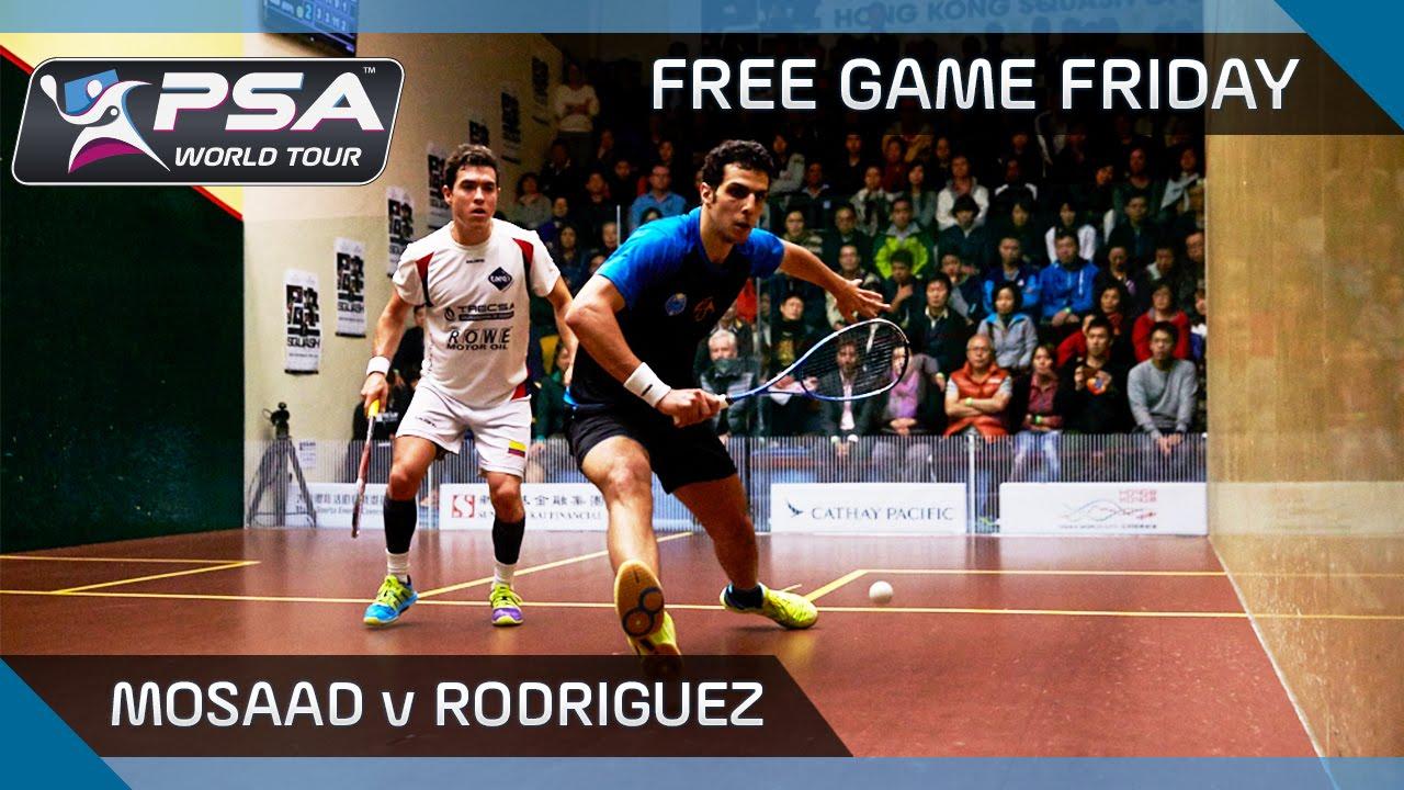 Squash: Free Game Friday – Mosaad v Rodriguez – Hong Kong Open 2015