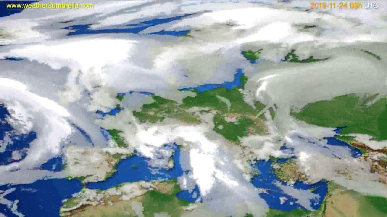 Cloud forecast Europe // modelrun: 00h UTC 2019-11-23