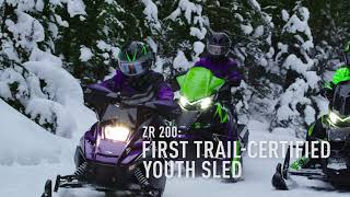 6. Arctic Cat 2019 Youth ZR200 Snowmobiles