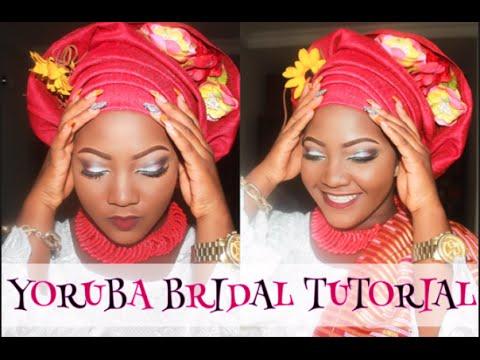Yoruba Bride: Makeup and gele tying tutorial for ...