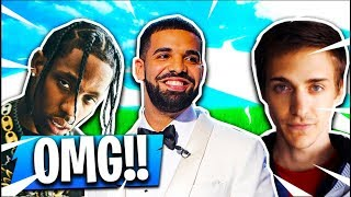 Playing Against DRAKE, NINJA & TRAVIS SCOTT in Fortnite Battle Royale!!